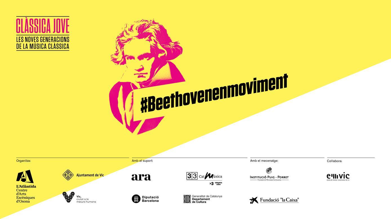 Pantalla logos Beethoven en moviment